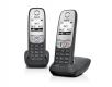 Gigaset A415 Duo - Schnurlostelefon mit Freisprechfunktion inkl. zweiten Mobilteil, schwarz