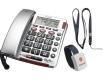 AUDIOLINE BigTel 50 Alarm Plus silber Großtastentelefon