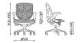 Bürodrehstuhl ERGO ohne Nackenstütze