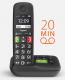 Gigaset E290A - Schnurlostelefon mit großen Tasten und großem Display und AB schwarz