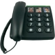 doro PhoneEasy 331ph schwarz Telefon/Großstasten/Fototasten