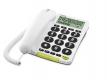 doro PhoneEasy 312cs weiss Telefon/Großstasten