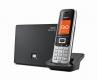 Gigaset S850A GO VOIP/Analog Schnurlostelefon mit AB, platin/schwarz
